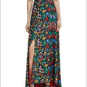 Alice and Olivia Athena High Low Maxi Skirt